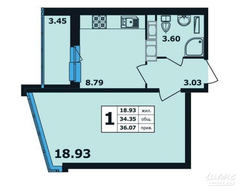 Планировка квартиры ЖК Ленинский Парк 10