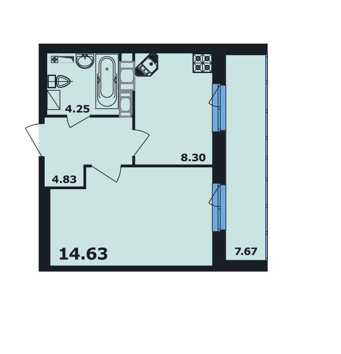 Планировка квартиры ЖК Ленинский Парк 5